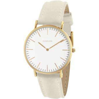 Montre Clueless BCL10072-102 - Montre Cuir Beige Mixte