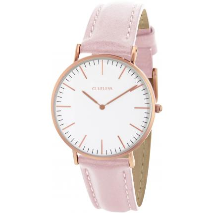 Montre Clueless BCL10072-810 - Montre Cuir Rose Mixte