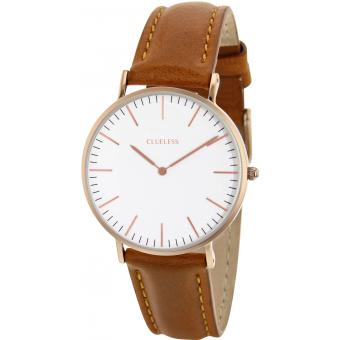 Montre Clueless BCL10072-811 - Montre Cuir Marron Mixte
