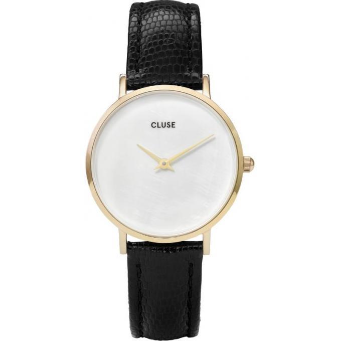 montre cluse montres cl30048 montre minuit la perle dor e blanc noir femme sur bijourama. Black Bedroom Furniture Sets. Home Design Ideas
