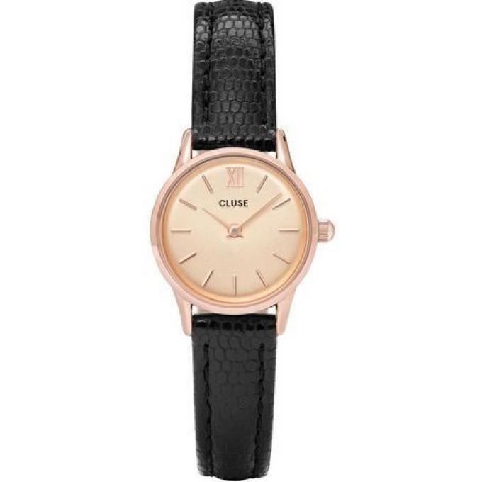 montre cluse montres cl50028 montre la vedette dor e rose champagne noir femme sur bijourama. Black Bedroom Furniture Sets. Home Design Ideas
