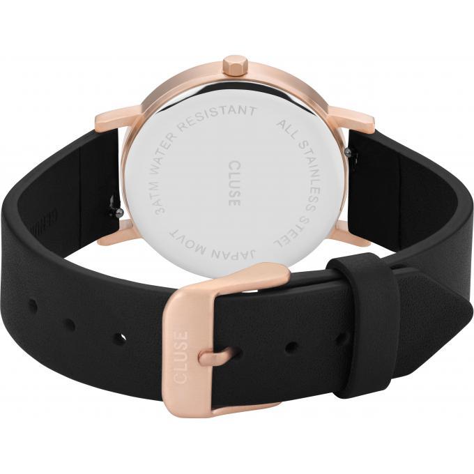 montre cluse montres la roche cl40104 1010720 montre cuir noir femme sur bijourama montre. Black Bedroom Furniture Sets. Home Design Ideas