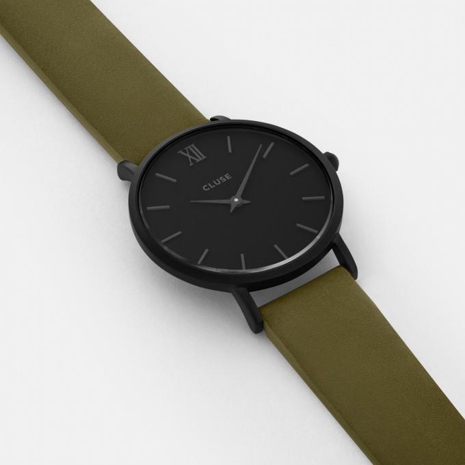 montre cluse montres minuit cl30007 1007690 montre cuir vert femme sur bijourama montre. Black Bedroom Furniture Sets. Home Design Ideas