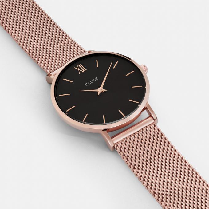 montre cluse montres minuit cl30016 1007699 montre acier or rose femme sur bijourama montre. Black Bedroom Furniture Sets. Home Design Ideas