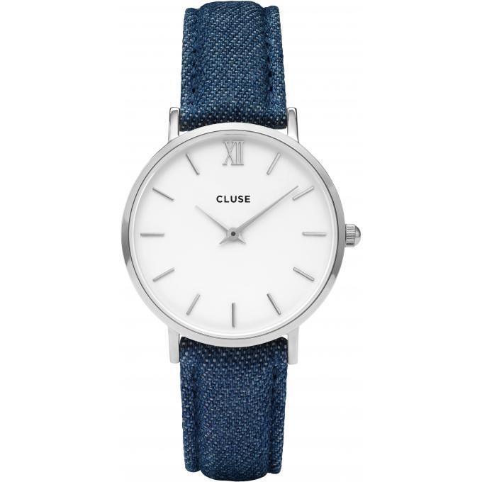 montre cluse montres minuit cl30030 1009489 montre cuir bleu femme sur bijourama montre. Black Bedroom Furniture Sets. Home Design Ideas
