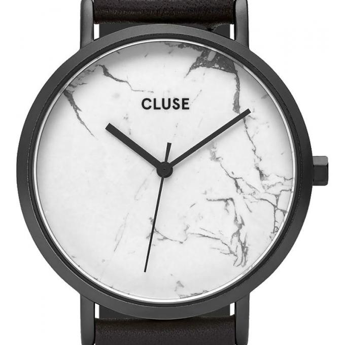 montre cluse la roche cl40002 montre noire marbre mixte sur bijourama montre mixte pas cher. Black Bedroom Furniture Sets. Home Design Ideas