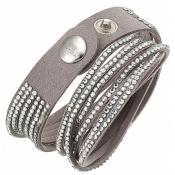 Bracelet Clyda Bijoux Cuir Gris C51283GZ