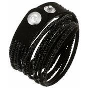 Bracelet Clyda Bijoux Noir Strass C51283NN