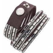 Bracelet Clyda Bijoux Cuir Métal C51308GZ