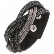 Bracelet Clyda Bijoux Noir Strass C51309NNG