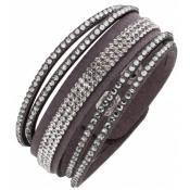 Bracelet Clyda Bijoux Cuir Gris C51310GGZ