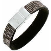 Bracelet Clyda Bijoux Cuir Gris C56285NM