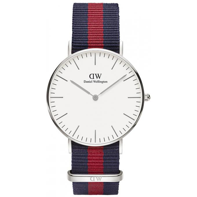 montre daniel wellington dw00100046 montre tissu nato navy bleue rouge argent femme sur. Black Bedroom Furniture Sets. Home Design Ideas