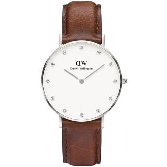 Montre Daniel Wellington DW00100079 - Montre Cuir Marron Femme