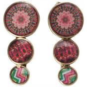 Boucles d'oreilles Desigual Bijoux Fleur Rouge 61G55C3-7032-TEJA RUSTICA - Rouge