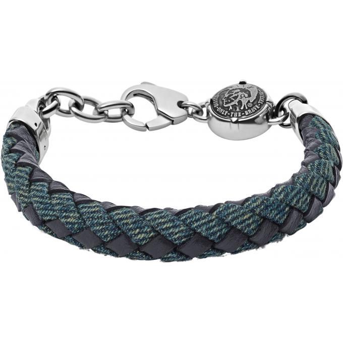 bracelet diesel dx0915040 bracelet cuir tresse homme sur. Black Bedroom Furniture Sets. Home Design Ideas