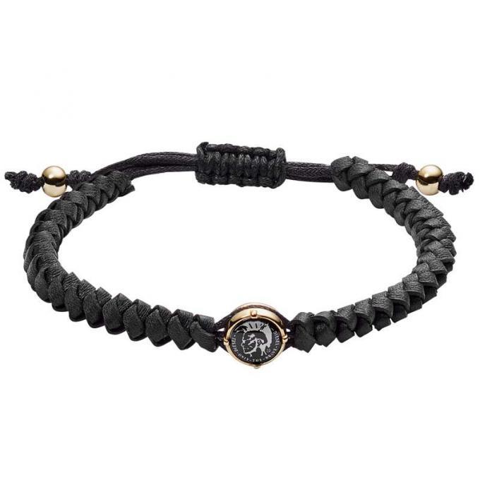 bracelet diesel bijoux dx1057710 bracelet stackables cuir noir homme sur bijourama r f rence. Black Bedroom Furniture Sets. Home Design Ideas