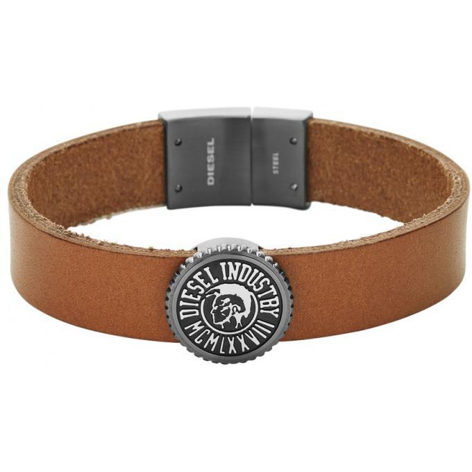 bracelet diesel bijoux dx0907060 bracelet cuir camel. Black Bedroom Furniture Sets. Home Design Ideas