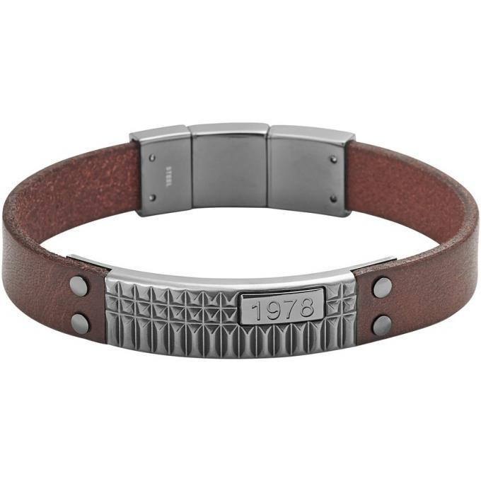 bracelet diesel dx0854060 bracelet cuir marron original. Black Bedroom Furniture Sets. Home Design Ideas