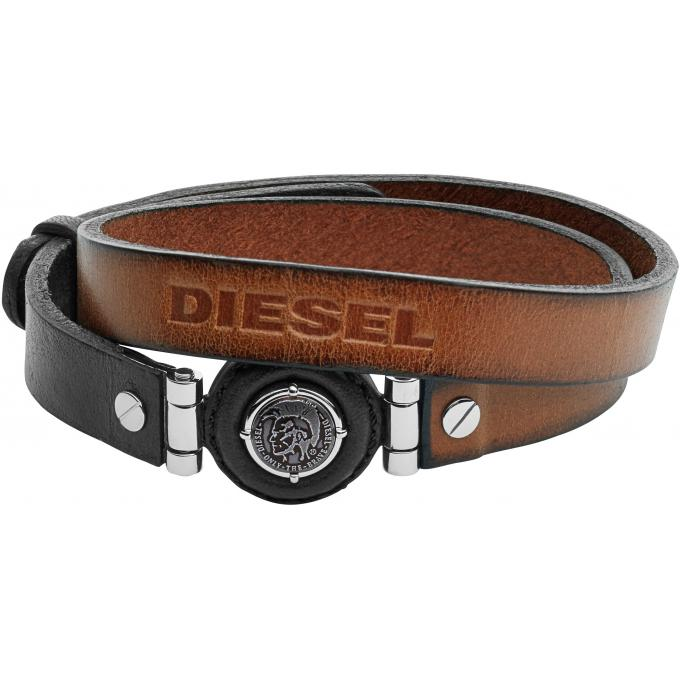 Bracelet Diesel Bijoux Leather Spec DX1021040 , Bracelet Cuir Marron Homme