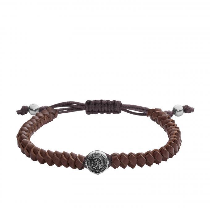 bracelet diesel bijoux stackables dx1044040 bracelet cuir marron homme sur bijourama. Black Bedroom Furniture Sets. Home Design Ideas