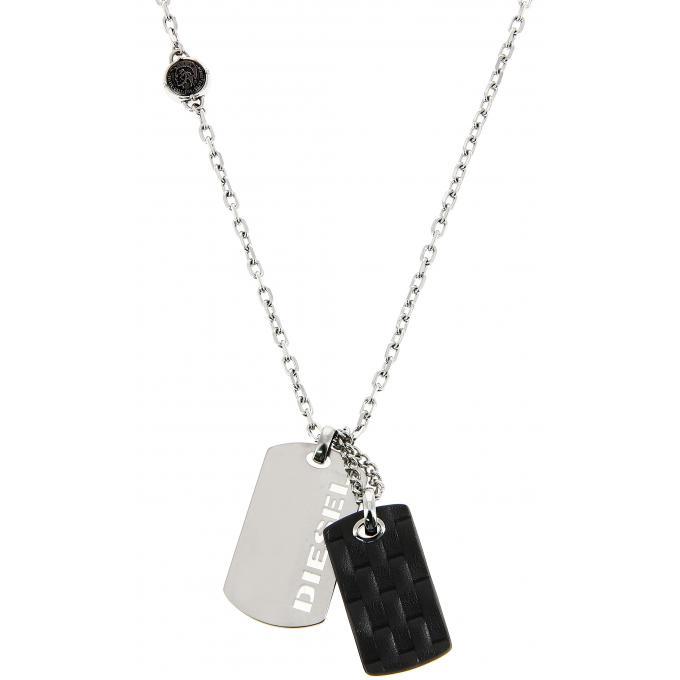 collier et pendentif diesel dx1014040 collier et pendentif acier collier homme sur bijourama. Black Bedroom Furniture Sets. Home Design Ideas