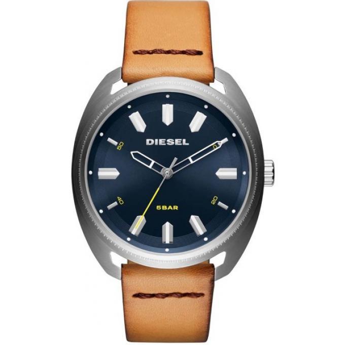 montre diesel dz1834 bracelet cuir marron bo tier acier homme sur bijourama montre homme pas. Black Bedroom Furniture Sets. Home Design Ideas