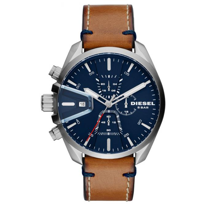 montre diesel dz4470 montre chronographe cuir marron cadran bleu homme sur bijourama montre. Black Bedroom Furniture Sets. Home Design Ideas