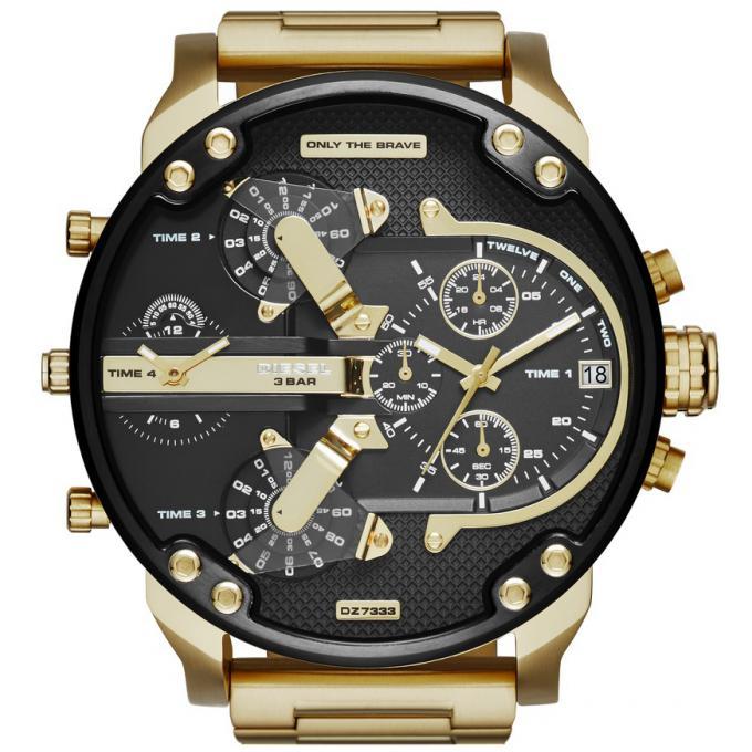 montre diesel dz7333 montre acier or homme sur bijourama montre homme pas cher en ligne. Black Bedroom Furniture Sets. Home Design Ideas