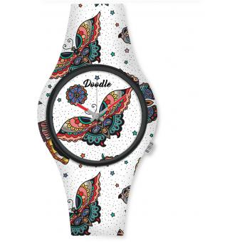 Montre Doodle NATURE MOOD DO35010 - Montre PAPILLON 35mm Homme,Femme