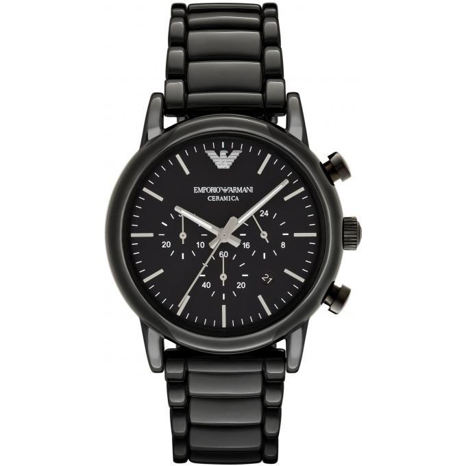Montre emporio armani ar1507 montre c ramique noire - Montre emporio armani homme pas cher ...