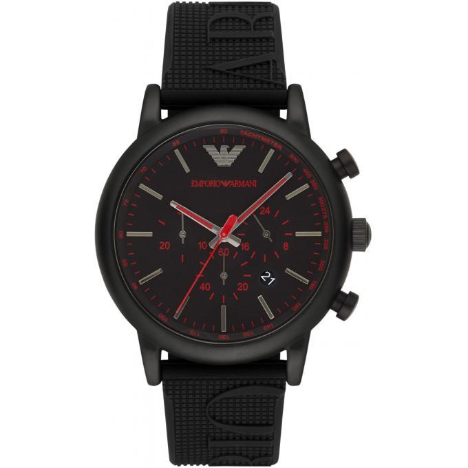 Montre armani ar11024 montre chronographe silicone noire - Montre emporio armani homme pas cher ...