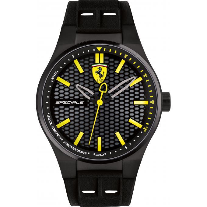 montre ferrari speciale 0830354 montre noire acier homme sur bijourama montre homme pas cher. Black Bedroom Furniture Sets. Home Design Ideas