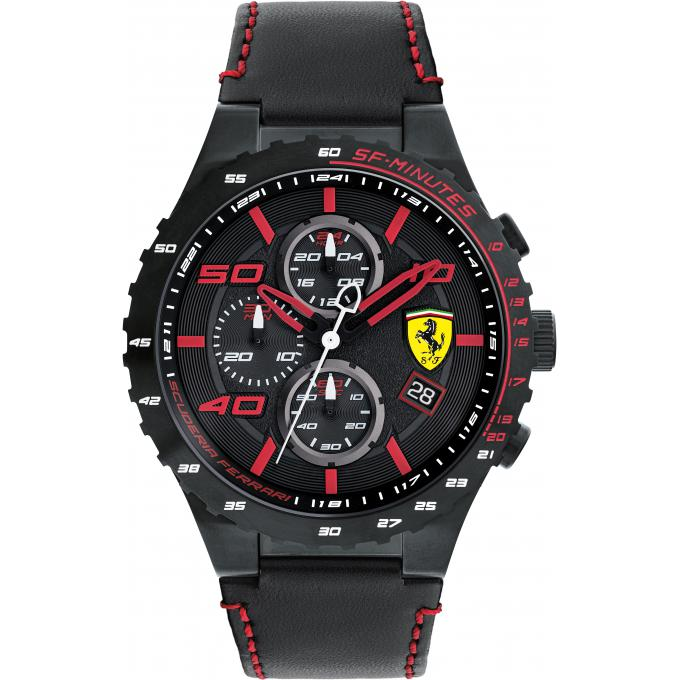 montre ferrari speciale evo 0830363 montre cuir chronographe homme sur bijourama montre. Black Bedroom Furniture Sets. Home Design Ideas