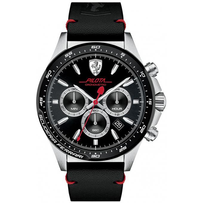 montre ferrari montres 0830389 montre chronographe cuir noir homme sur bijourama montre. Black Bedroom Furniture Sets. Home Design Ideas