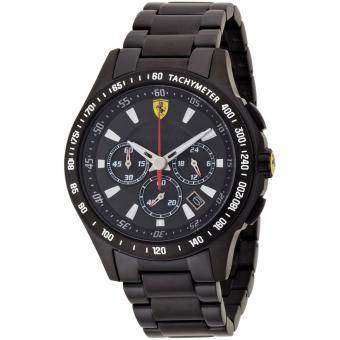 montre ferrari 830046 montre noire acier homme sur bijourama montre homme pas cher en ligne. Black Bedroom Furniture Sets. Home Design Ideas