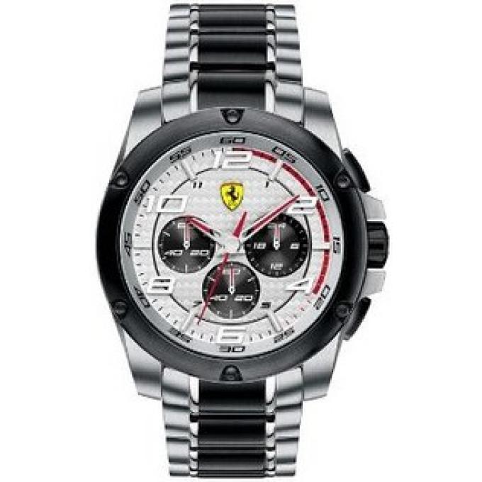 montre ferrari montres montre chronographe ronde homme 830034. Black Bedroom Furniture Sets. Home Design Ideas