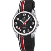 Montre FESTINA Junior F16904-3 - Montre Tissu Noir Rouge Junior