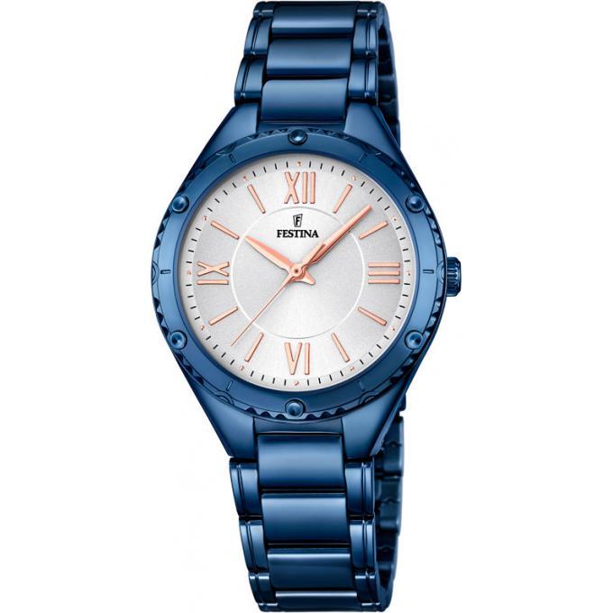montre festina f16923 1 montre rond acier bleu femme sur bijourama montre femme pas cher en. Black Bedroom Furniture Sets. Home Design Ideas