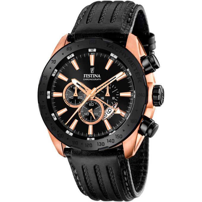 montre festina prestige f16900 1 montre cuir noire design homme sur bijourama montre homme. Black Bedroom Furniture Sets. Home Design Ideas