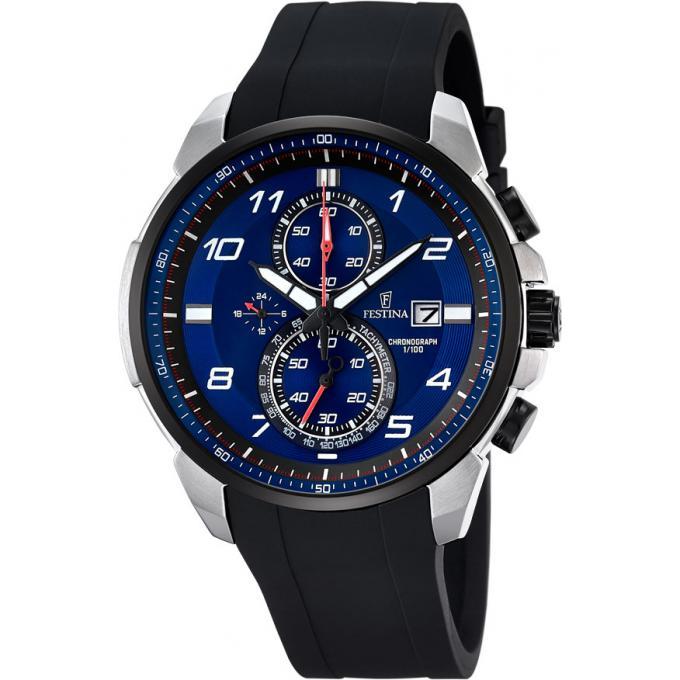 montre festina chrono f6841 3 montre cadran bleu multifonction homme sur bijourama montre. Black Bedroom Furniture Sets. Home Design Ideas
