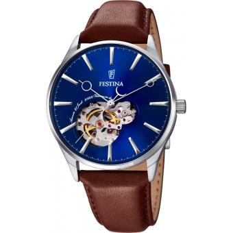 Montre Festina Classic Automatic F6846-3 - Montre Marron Design Homme