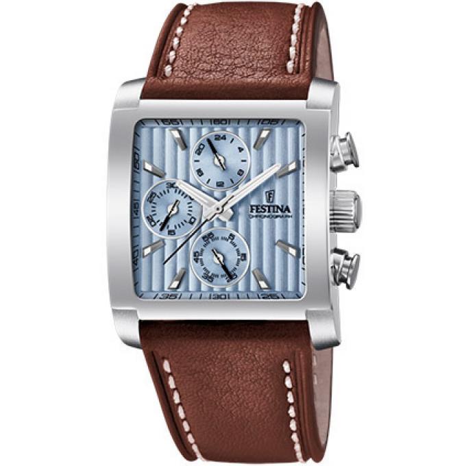 montre festina bracelet cuir homme