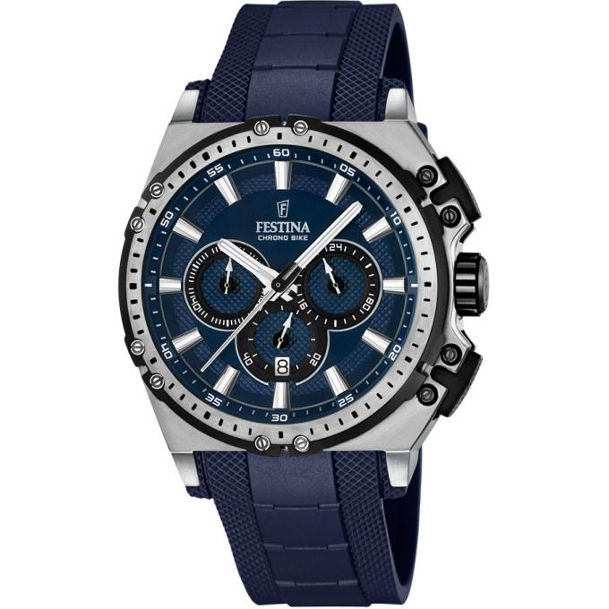 montre festina chrono bike f16970 2 montre sport bleu homme sur bijourama montre homme pas. Black Bedroom Furniture Sets. Home Design Ideas