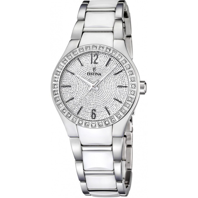 watch montre guess femme cramique blanche