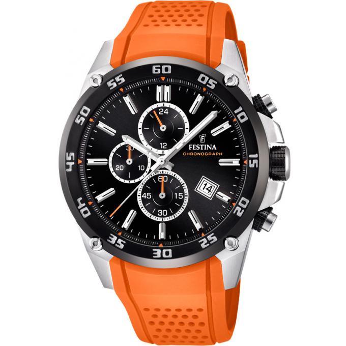 Montre Festina Originals F20330-4 - Montre Chronographe Résine Orange Homme 7fc2d9e7e837