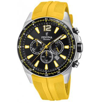Montre Festina Originals F20376-4 - Montre Chronographe Dateur Jaune Homme