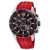 Montre Festina Originals F20376-6 - Montre Chronographe Dateur Rouge Homme