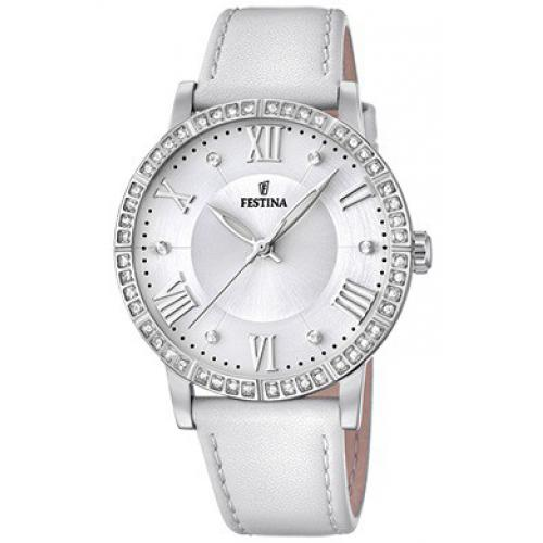 Montre Festina Boyfriend Collection F20412-1 - Montre Cuir Blanc Femme