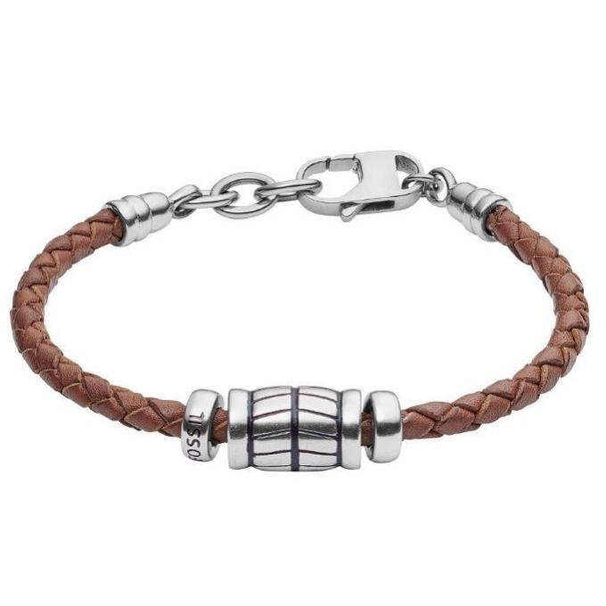 bracelet fossil jf02686040 bracelet cuir acier homme sur. Black Bedroom Furniture Sets. Home Design Ideas